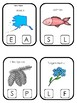 Alaska State Symbols themed Beginning Sounds Clip It Game. Preschool Game