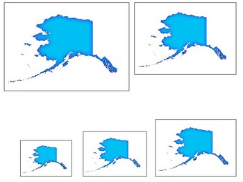 Alaska State Symbols themed Size Sequence. Preschool Game
