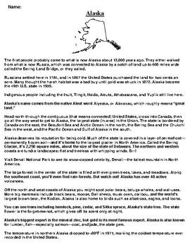 Alaska Text Evidence and Summary Assignment