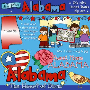 Alabama USA Clip Art Download