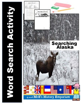 Alaska # 3 Word Search & Mag Cover Activity