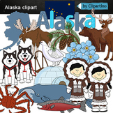 Alaska clipart-Alaska staty symbols clip art