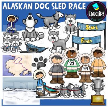 Alaskan Dog Sled Race Clip Art Bundle {Educlips Clipart}