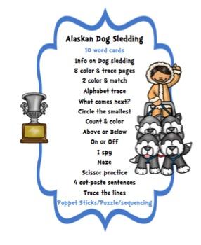 Alaskan Dog Sledding Printable