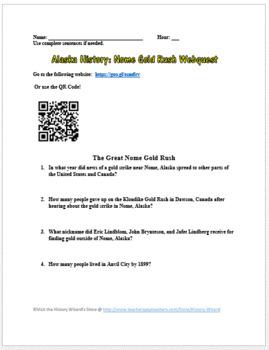 Alaskan History: Nome Gold Rush Webquest