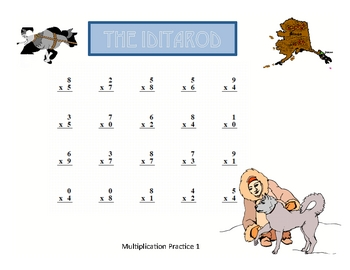 Iditarod Basic Math Fact Practice With Keys