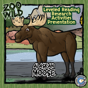 Alaskan Moose -- 10 Resources -- Coloring Pages, Reading & Activities