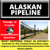 Alaskan Pipeline Differentiated Reading Passage, November 16