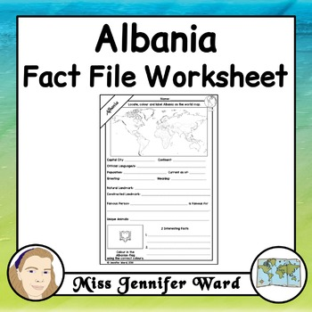 Albania Fact File Worksheet