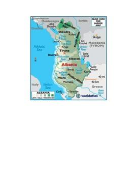Albania Map Scavenger Hunt
