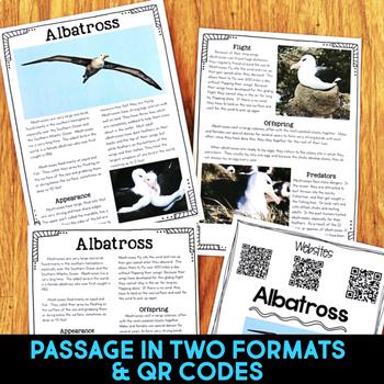 Albatross: Informational Article, QR Code Research & Fact Sort