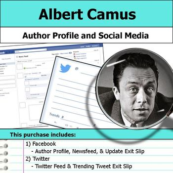 Albert Camus - Author Study - Profile and Social Media