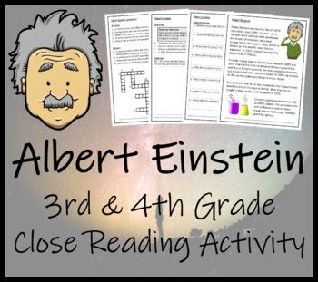 Albert Einstein - 3rd Grade & 4th Grade Close Reading Activity