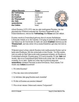 Albert Einstein Biography - German Reading / Lesung auf Deutsch