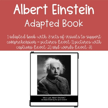 Albert Einstein Biography Adapted Book (3 levels)