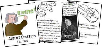 Albert Einstein Biography Report (K-8th)