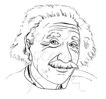 Albert Einstein Clipart - Realistic Image