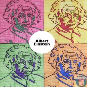 Albert Einstein Collaboration Portrait Poster - Famous Scientists Series