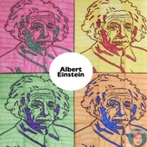 Albert Einstein Collaboration Portrait Poster - Fun Pi Day Activity