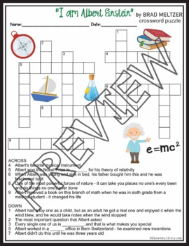 Albert Einstein Crossword Puzzle & Word Search Find Activities Brad Meltzer Book