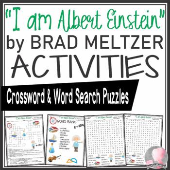 Albert Einstein Activities Crossword Puzzle & Word Search Find Brad Meltzer Book