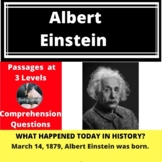 Albert Einstein Differentiated Reading Passage March 14