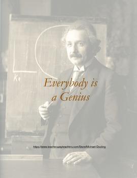 Albert Einstein, Everybody is a Genius