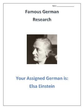 (FAMOUS GERMANS) Elsa Einstein: Scientists, Doctors and Social Sciences