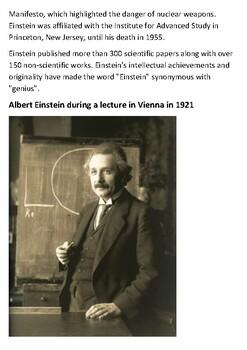 Albert Einstein Handout