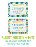 Albert Einstein Inspirational Poster 1