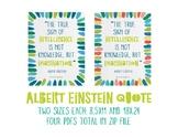 Albert Einstein Inspirational Poster 2