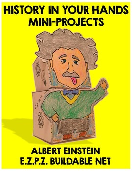 Albert Einstein Paper Craft Project