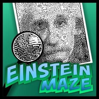 Albert Einstein Pictorial Maze
