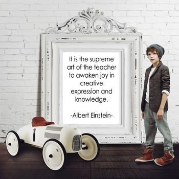 Albert Einstein Quote - Printable Poster 8x10