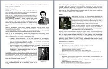 Albert Einstein - The Father Of Science? - A Famous Scientist Reading