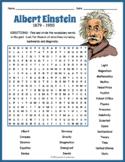 Albert Einstein Word Search Puzzle