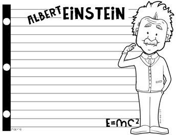 Albert Einstein Writing Paper