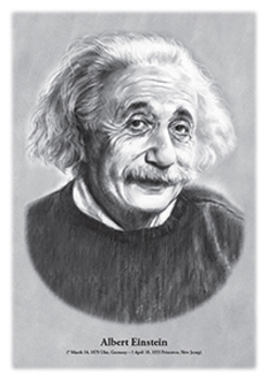 Albert Einstein - original illustration