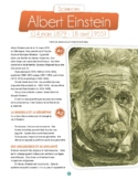 Albert Einstein - text in French - level A1, A2 + quotes in B1.