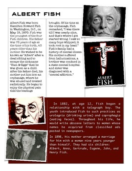 Forensics - Albert Fish - The King of the Perverts w/key