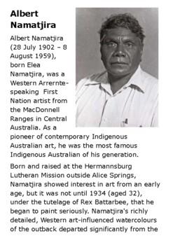 Albert Namatjira Aboriginal artist Handout
