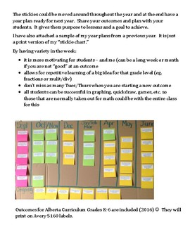 Alberta Canada Elementary Math Year Plans with 2016 updates