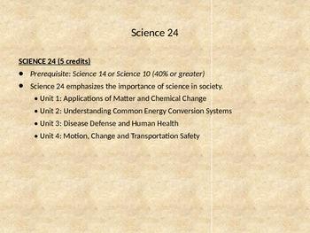 Alberta - Choosing your high school science presentation