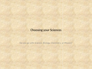 Alberta - Choosing your high school science presentation