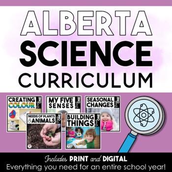 First Grade Science   Alberta Curriculum   BUNDLE