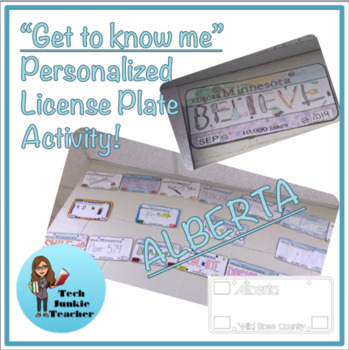 Alberta Get to Know Me License Plate Activity