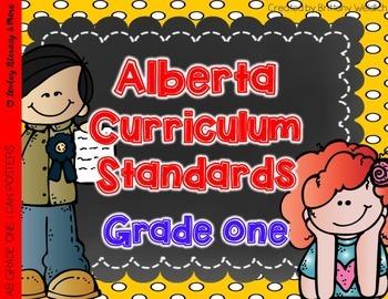 Alberta Grade 1 Curriculum Standards I Can Posters
