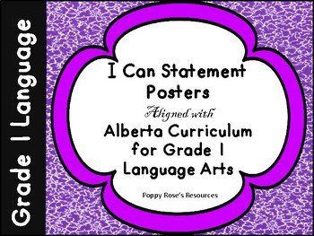 Alberta Grade 1 Language I Can Posters