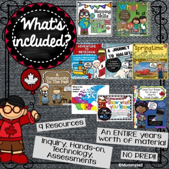 Alberta Grade 2 Social Studies Bundle - ALL UNITS