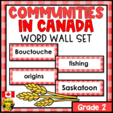 Alberta Grade 2 Social Studies Word Wall Words